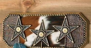 Rustic Buckshot Star Hook Rack