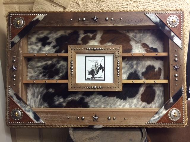 Custom Concho Large Picture Frame Award Buckle Display