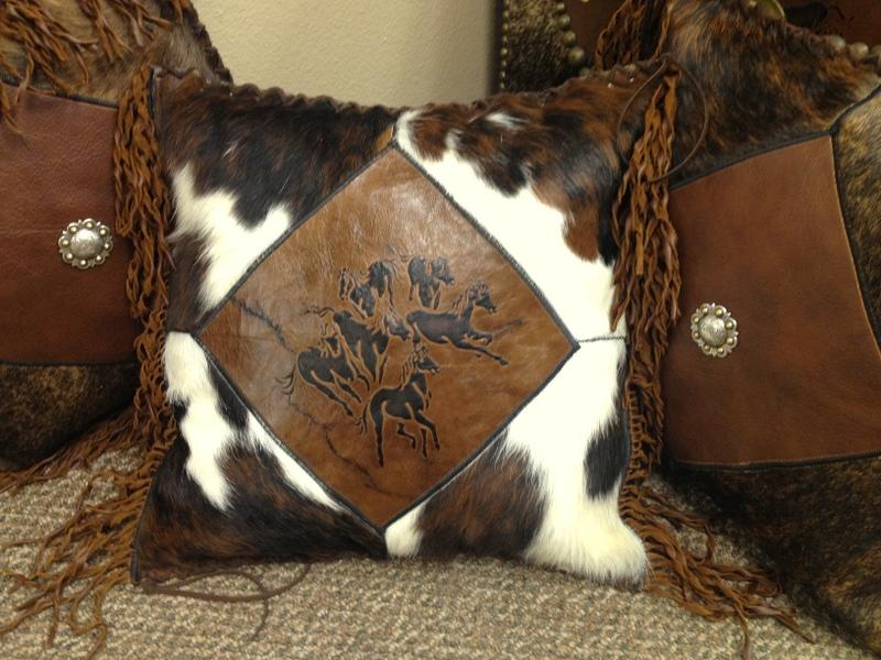 Horses 16 Custom Leather Amp Cowhide Hand Laced Accent