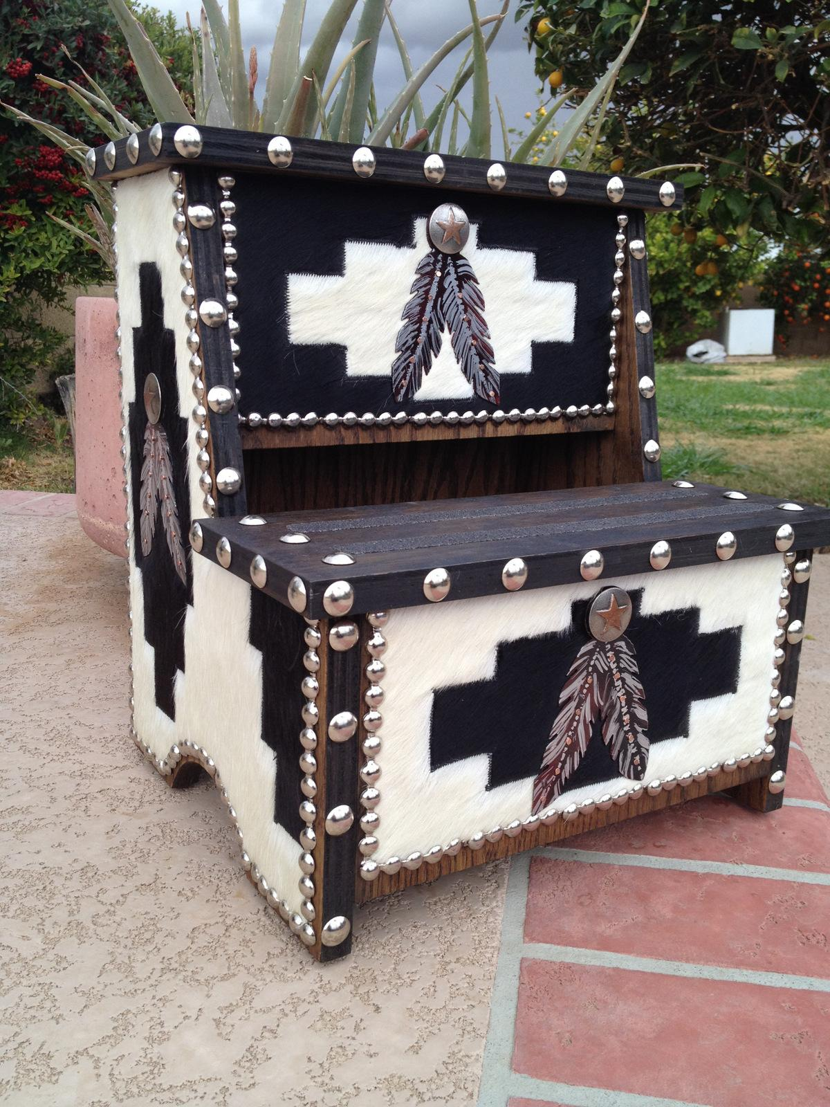 Native American Style Or Southwestern Decor Cowhide
