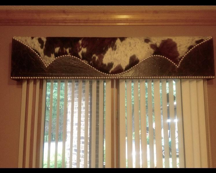 Made To Order Cowhide Amp Leather Custom Window Cornice
